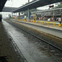 Photo taken at Stasiun Depok Baru by Maulida R. on 1/17/2012