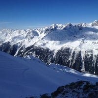Photo taken at Les Grands Montets by Maksim G. on 1/20/2013