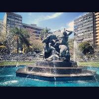 Photo taken at Plaza Fabini by Gian on 10/15/2012