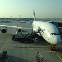 Photo taken at Lufthansa Flight LH 440 by Antoine V. on 3/30/2014