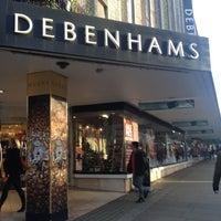 Photo taken at Debenhams by Sanja on 12/21/2012