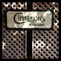 Photo taken at Cinnamon's Restaurant by Mayumi I. on 11/3/2012