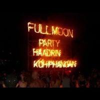 Photo taken at Full Moon Party by kazuaki y. on 2/25/2013