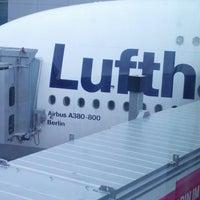 Photo taken at Lufthansa Flight LH 720 by Matthias S. on 10/8/2013
