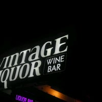 Photo taken at Vintage Liquor & Wine Bar by Kareem B. on 9/29/2012
