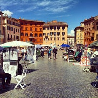 Photo taken at Piazza Navona by Eser K. on 4/21/2013