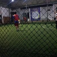 Photo taken at Kuningan Village Futsal & Food Park by Yoga B. on 8/6/2014