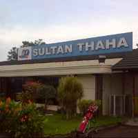 Photo taken at Bandara Sultan Thaha Syaifuddin (DJB) by Seno R. on 2/18/2013