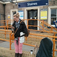 Photo taken at Staines Railway Station (SNS) by James M. on 2/16/2013