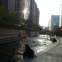 Photo taken at 광통교 by Sera on 9/30/2013