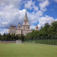 Photo taken at Футбольное поле МГУ by Pavel K. on 6/6/2015