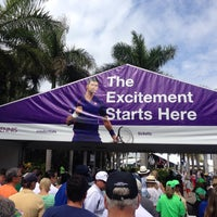 Photo taken at Grandstand Court - Sony Ericsson Open by Kirit S. on 3/24/2014