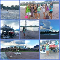 Photo taken at Camsur Watersports Complex (CWC) by Pearlie F. on 5/26/2013