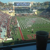 Photo taken at Donald W Reynolds Razorback Stadium by Lauren on 11/3/2012
