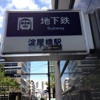 Photo taken at Midosuji Line Yodoyabashi Station (M17) by Gakuto on 10/10/2012