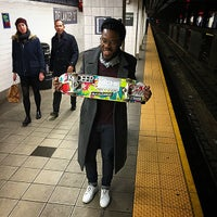 Photo taken at MTA Subway - Delancey St/Essex St (F/J/M/Z) by Keilon L. on 12/27/2014