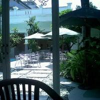 Photo taken at Rumah Putih Poolside Restaurant by Elvira C. on 3/18/2011