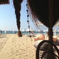 Photo taken at Sanz Beach by Pınar A. on 8/11/2013
