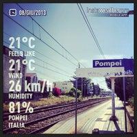 Photo taken at Stazione di Pompei by Cristiano E. on 6/8/2013