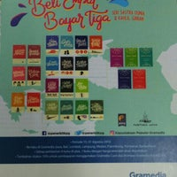 Photo taken at Gramedia by lina a. on 8/31/2016