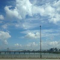 Photo taken at Jamsil Bridge by Soo Hyeong L. on 9/25/2013