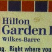 Photo taken at Hilton Garden Inn Wilkes Barre by Patrick M. on 4/20/2014