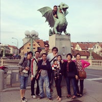 Photo taken at Zmajski most / Dragon Bridge by Kanyaphat T. on 10/5/2012