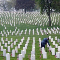 Photo taken at Wood National Cemetery by Mike C. on 5/27/2013