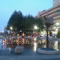 Photo taken at The Rose Kennedy Greenway by Marco F. on 7/13/2016