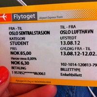 Photo taken at Flytoget AS by Eline V. on 8/13/2012