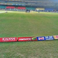 Photo taken at Jawaharlal Nehru Stadium by Antony Dalwin D. on 2/8/2013