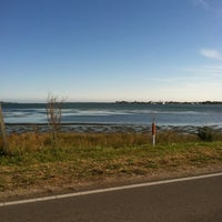 Photo taken at Harkers Island Draw Bridge by Lisa on 1/10/2013