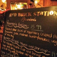 Photo taken at Red Brick Station Restaurant & Brew Pub by Mark A. on 11/25/2012