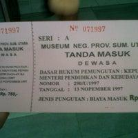 Photo taken at Museum Sumatera Utara by Ranny K. on 9/22/2012