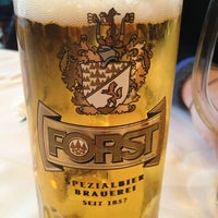 Photo taken at Forsterbräu Meran by Andrea on 12/26/2012