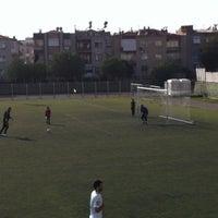 Photo taken at Bornova Stadı by Erbil U. on 2/16/2013