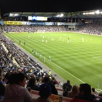 Photo taken at Children's Mercy Park by Banu on 9/15/2012
