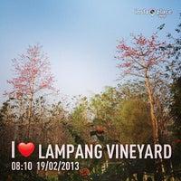 Photo taken at Lampang Vineyard by Jesada K. on 2/19/2013