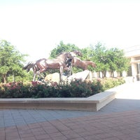Photo taken at Horses Sculpture by Ghina F. on 6/27/2013