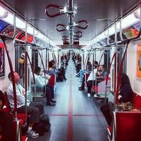 Photo taken at Dundas Subway Station by Julian W. on 9/17/2012