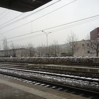 Photo taken at Bahnhof Rotkreuz by Vicky L. on 1/14/2013