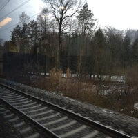Photo taken at Bahnhof Rotkreuz by Vicky L. on 1/28/2013