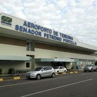 Photo taken at Aeroporto de Teresina / Senador Petrônio Portella (THE) by Joelandio M. on 4/10/2013