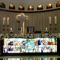 Photo taken at Gereja Santa Theresia by Sebastianus P. on 3/28/2013