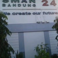 Photo taken at SMA Negeri 24 Bandung by Danny H. on 3/17/2013