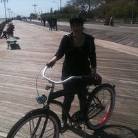 Photo taken at Ocean Parkway Beach by Derek B. on 4/13/2012