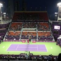 Photo taken at Khalifa International Tennis & Squash Complex by Etkin on 2/17/2013