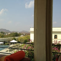 Photo taken at Devi Garh Udaipur by Christopher W. on 2/14/2013