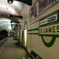 Photo taken at St James Station by Mick on 3/18/2013