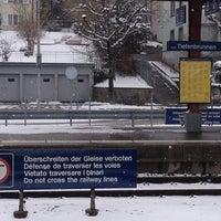 Photo taken at Bahnhof Zürich Tiefenbrunnen by Vincenzo on 2/12/2013